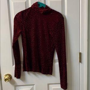 Forever 21 velvet leopard shirt